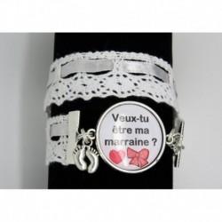 bracelet personnalisable cadeau pour une marraine pour une naissance un bapt me veux tu tre. Black Bedroom Furniture Sets. Home Design Ideas