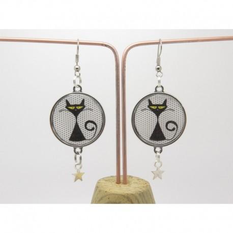 Boucles d'oreilles clip ou percée personnalisables F de Bm créations