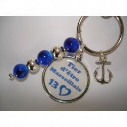Porte clés personnalisable F de Bm créations marseillais