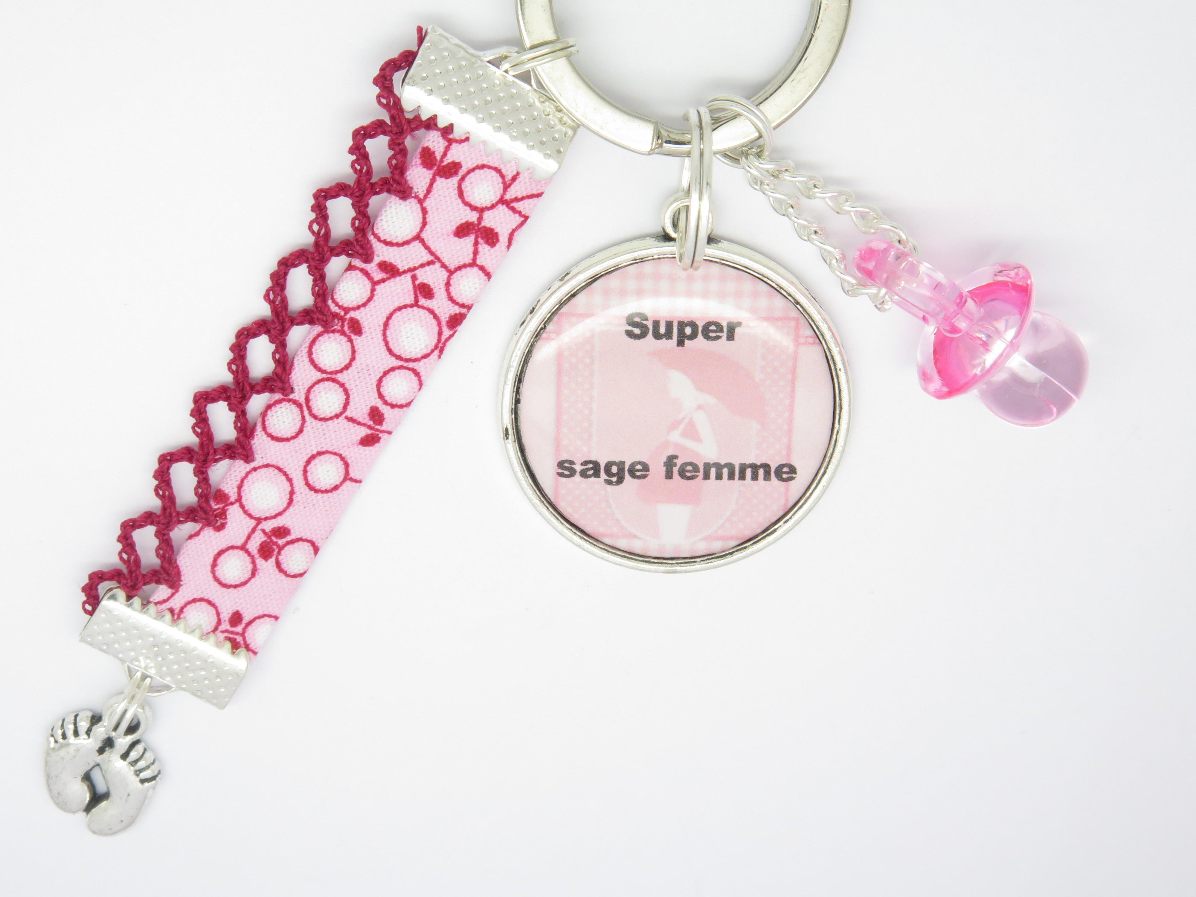Porte Clés Personnalisable Cadeau Pour Une Sage Femme F De