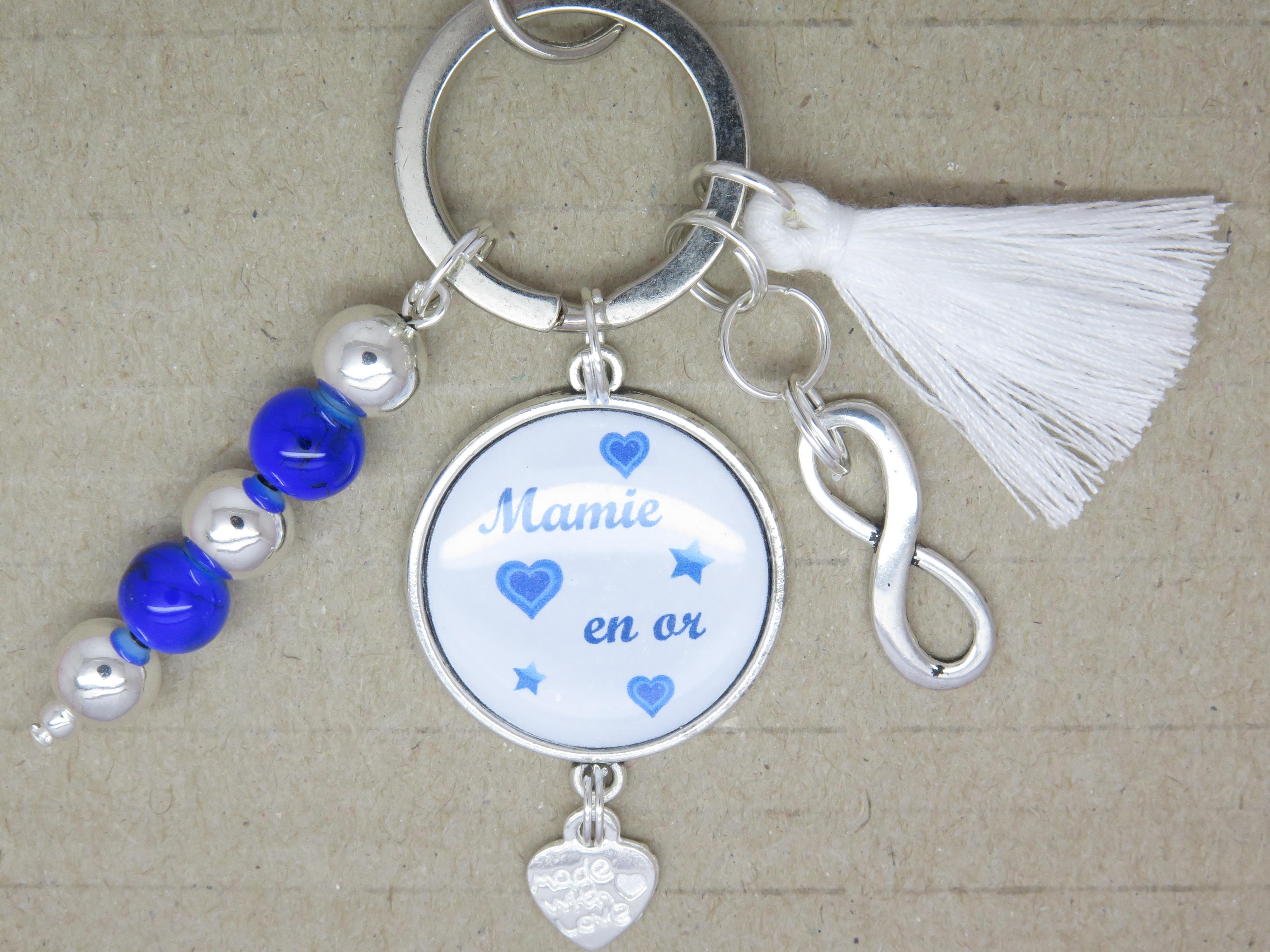 porte clÉs personnalisable ou bijou de sac cadeau pour une mamie