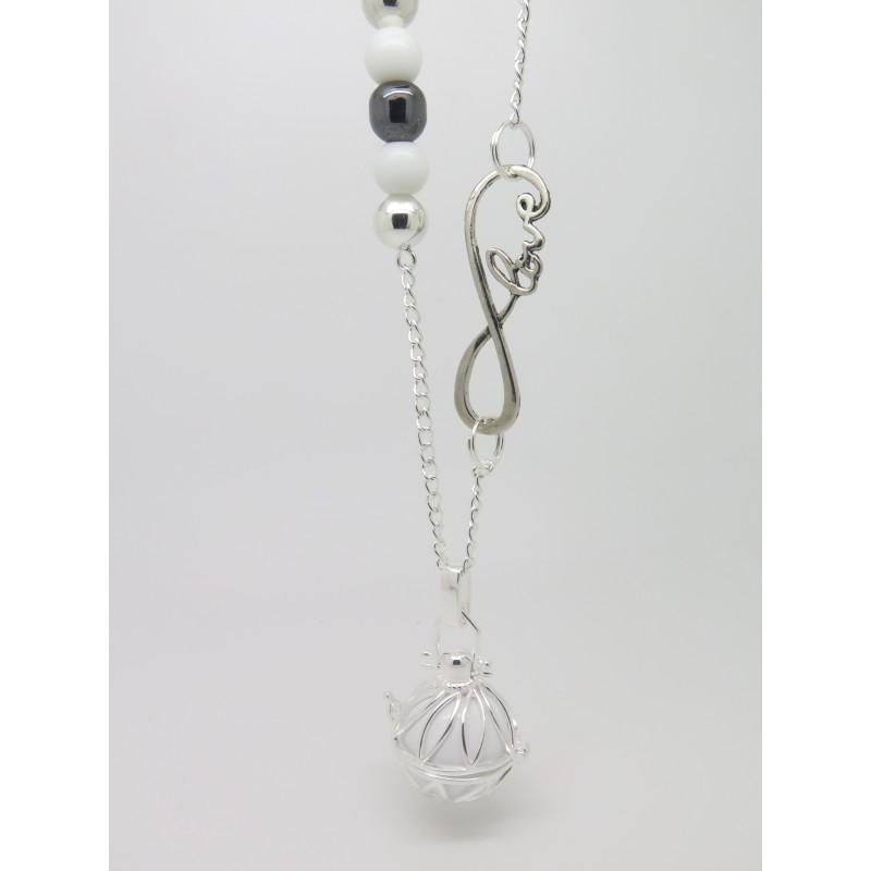 bola de grossesse argent plaqu personnalisable descente de perles breloque infini love. Black Bedroom Furniture Sets. Home Design Ideas