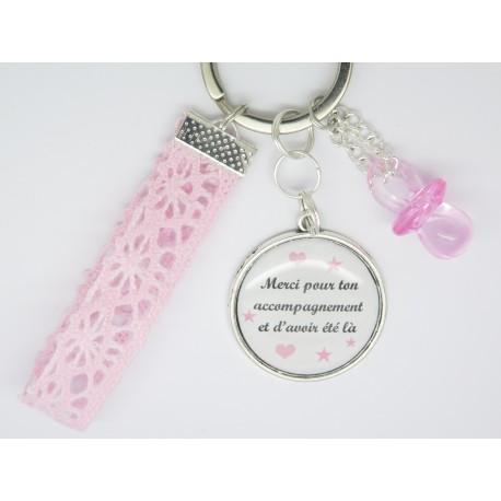 porte clé ou bijou de sac PERSONNALISABLE cadeau pour une nounou, une maman, une maîtresse, une sœur, une atsem