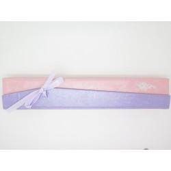 Carton Écrin violet pour création en longueur F de Bm créations