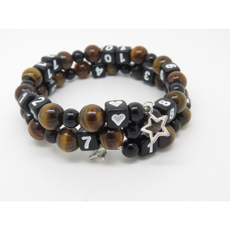 bracelet d 39 allaitement pierres fines il du tigre et. Black Bedroom Furniture Sets. Home Design Ideas