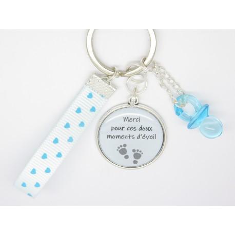 porte clé ou bijou de sac PERSONNALISABLE cadeau pour une nounou, une maman, une maîtresse cadeau crèche