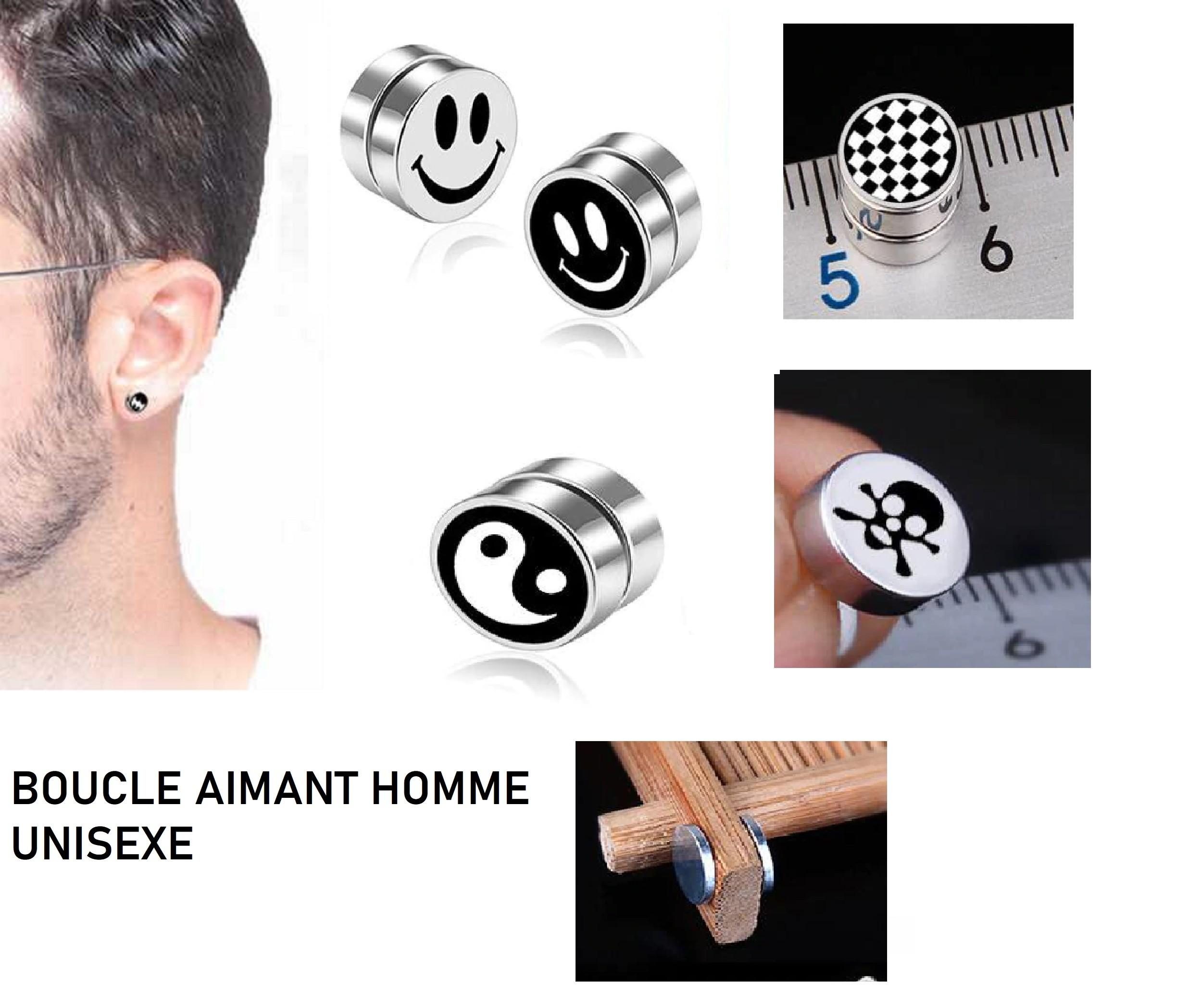 boucle d'oreille magnetique homme