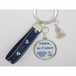 Porte clés personnalisable F de Bm créations papa marin