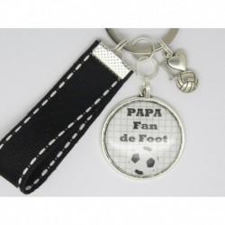 Porte clés personnalisable F de Bm créations papa foot