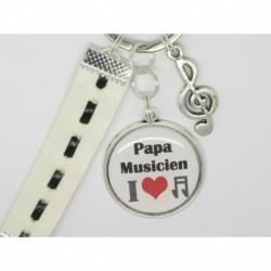 Porte clés personnalisable F de Bm créations papa musicien