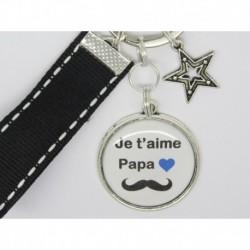 Porte clés personnalisable F de Bm créations papa moustache