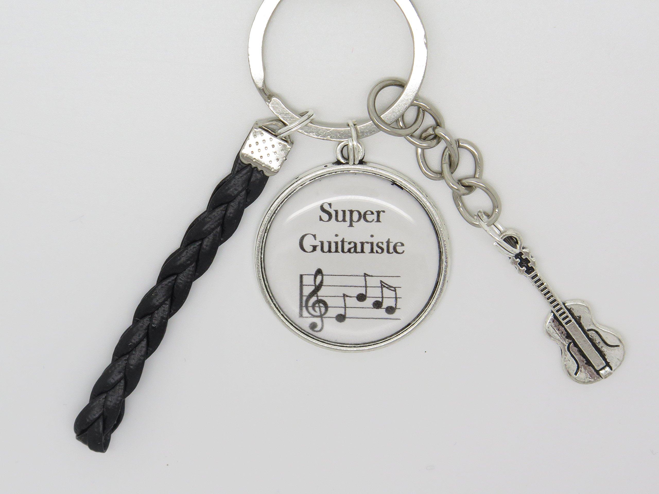 porte clés guitariste thème musique F de Bm creations